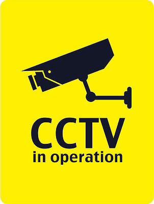 Cctv In Operation Warning Sticker Decal Sign A5 145mm X 195mm
