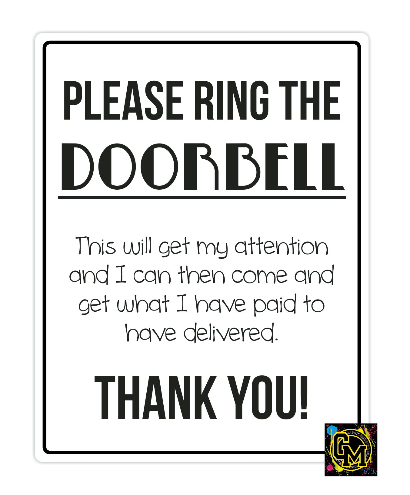 Please Ring Doorbell Sticker