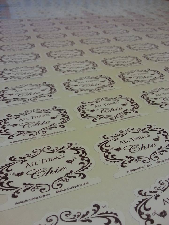 Custom shaped printed vinyl stickers bespoke business stickers