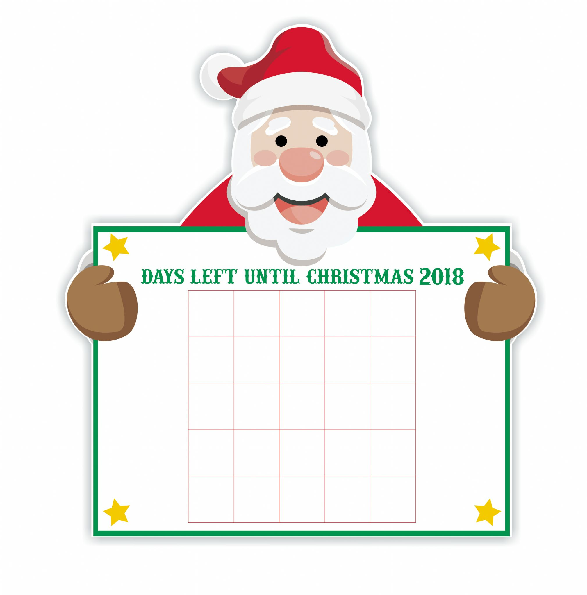 Until Christmas.Days Until Christmas Santa Countdown Vinyl Decal Sticker And Numbers Set