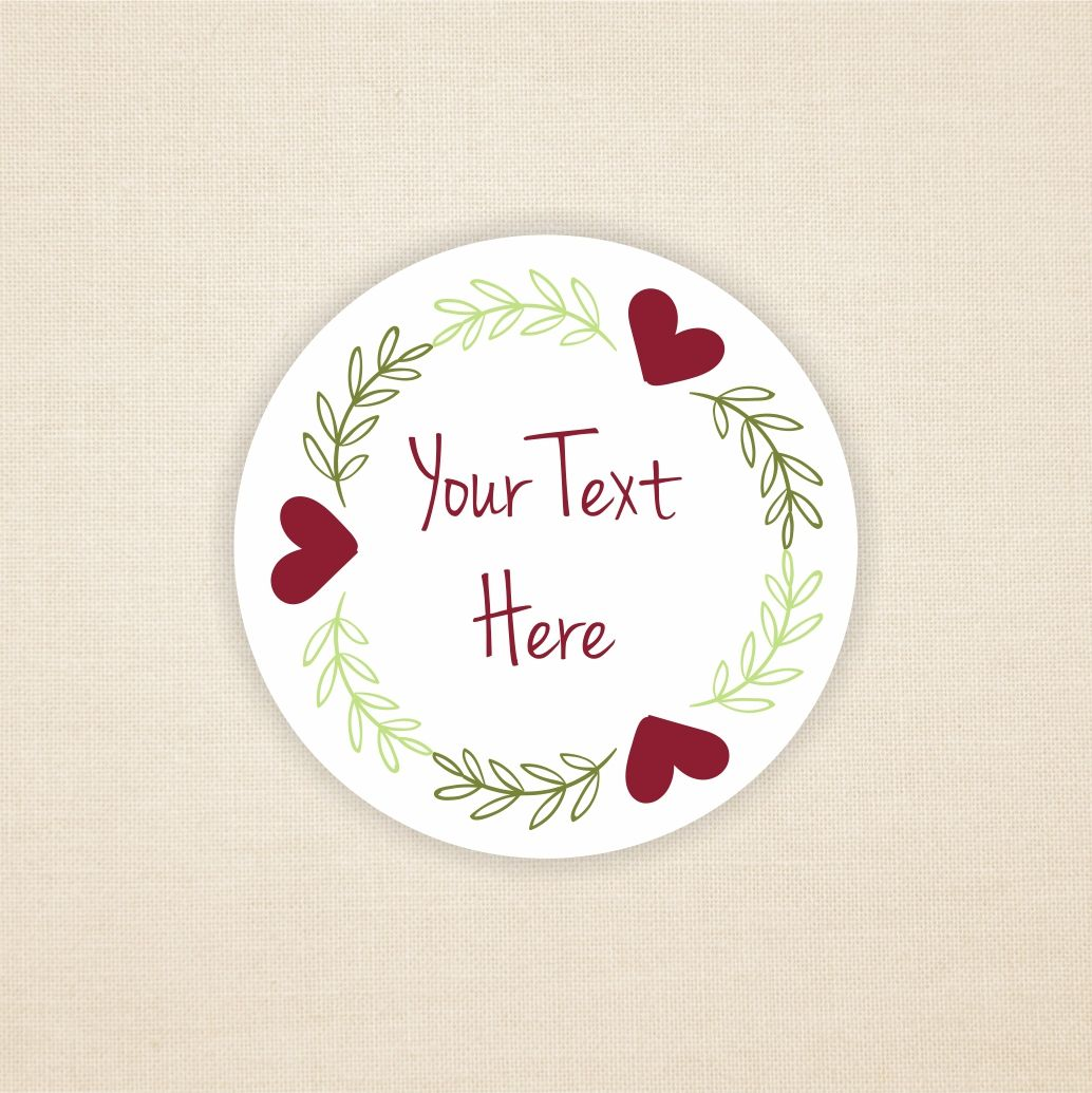 Floral Sticker Design Add Your Own Text