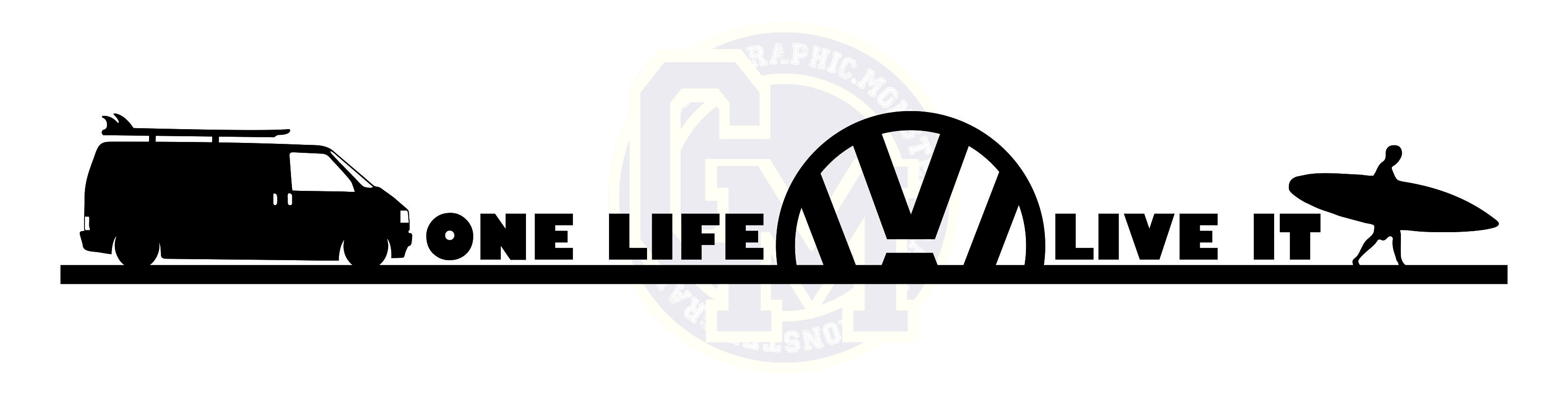 One life live it t4 camper vinyl sticker decal 6666 p jpg