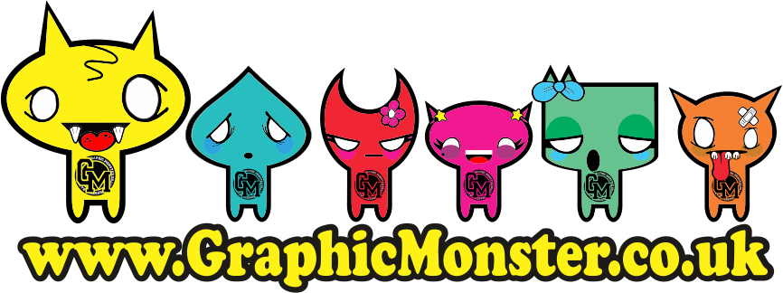 graphic monster logo
